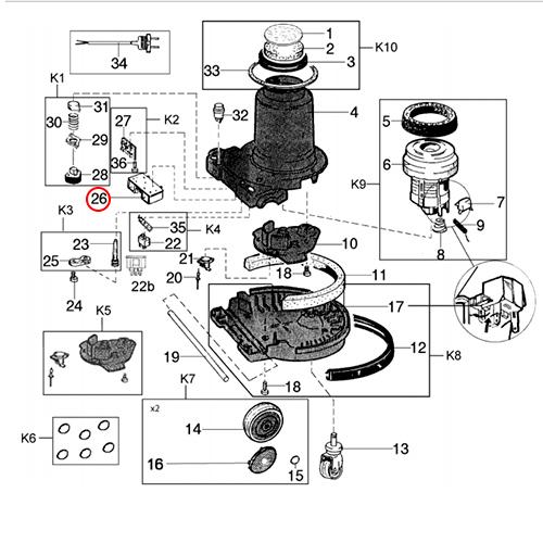 nilfisk 2s circuit board 220-240v